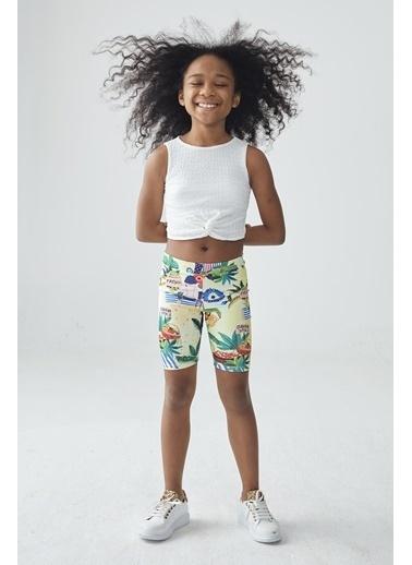 Tyess Kız Çocuk Desenli Tayt Renkli